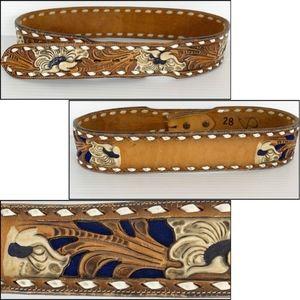 Tony Lama Waist Belt Woman's Size 28 Brown Leather